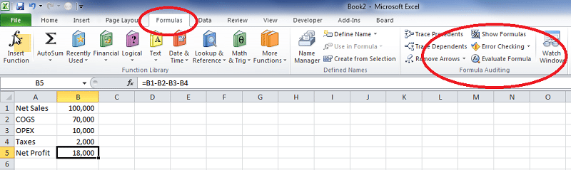 Excel Formula Auditing