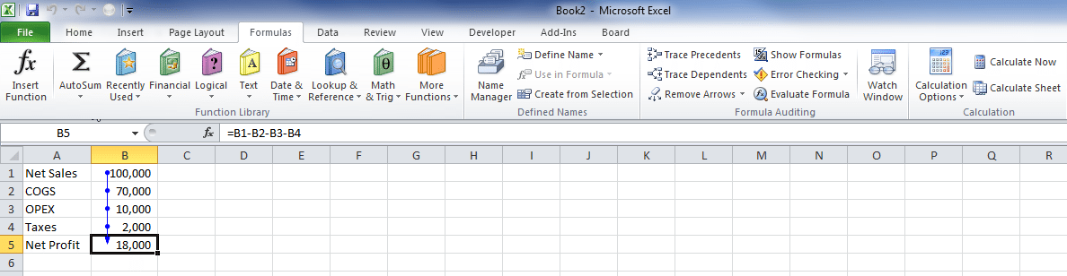 Excel formula auditing - tips for improving the quality of