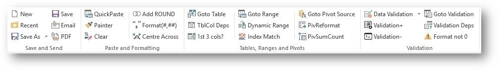 Excel Toolbar 1