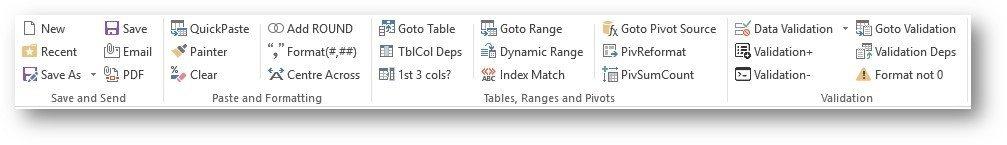 Excel Toolbar 1