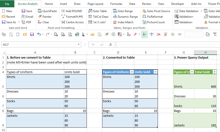Power Query Power Pivot