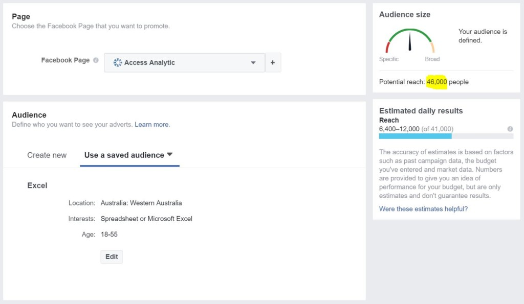 Facebook audience estimated reach can now be one of your Power BI data sources