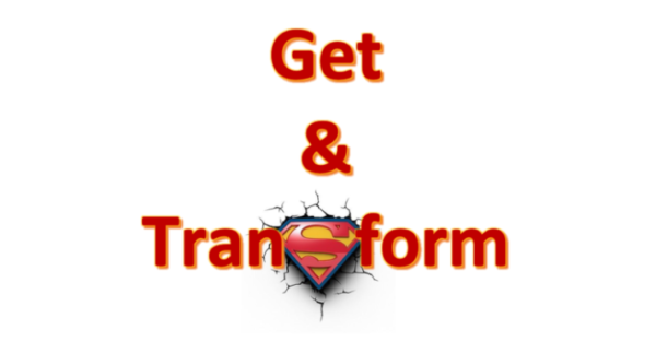Power query get & transform