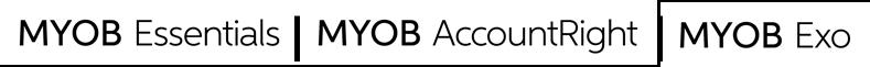 Myob products