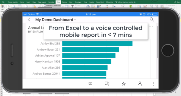 Voice controlled Power BI