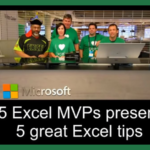 5 Great Excel tips from 5 Excel MVPs