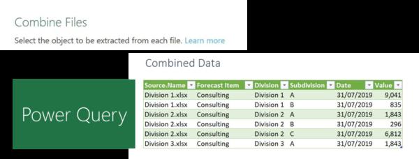 Combine files combined datat