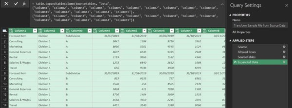 Dynamically consolidate multiple ranges - Access Analytic