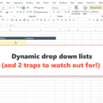 Create a dynamic drop down list in Excel